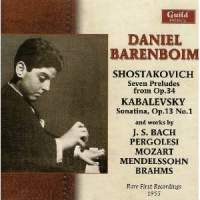 Daniel Barenboim - Rare First Recordings (1955)