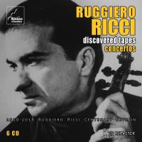 Ruggiero Ricci - Discovered Tapes - Concertos