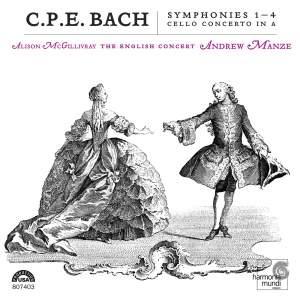 C P E Bach - Symphonies Nos. 1 - 4 Product Image