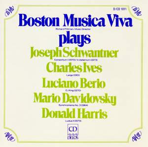 Boston Musica Viva plays Schwantner/Ives/Berio/Davidovsky/Harris