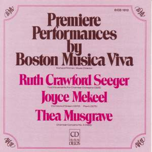 Premiere Performances by Boston Musica Viva
