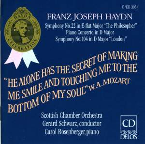 Haydn: Symphony No. 22 in E flat major 'The Philosopher', etc. Product Image