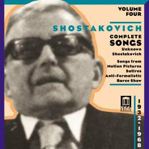 Shostakovich: Complete Songs Vol 4 Product Image