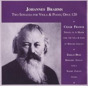 Brahms & Franck: Sonatas for Viola & Piano