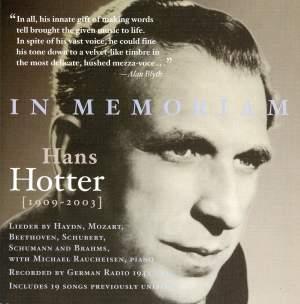 In Memoriam Hans Hotter