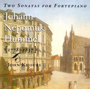 Hummel: Two Sonatas for Fortepiano