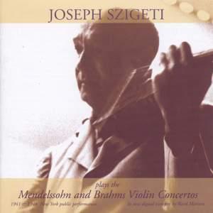 Joseph Szigeti plays Mendelssohn & Brahms