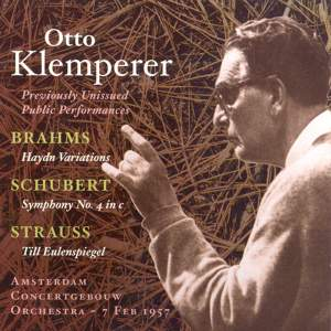Otto Klemperer - Previously Unissued Public Performance