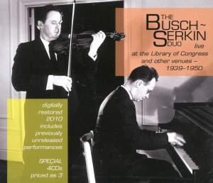 The Busch-Serkin Duo Live