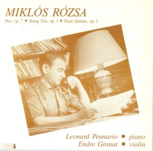 M Rozsa: Chamber Works for Strings