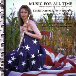 American Music for Flute and Orchestra - DIAMOND, D. / DORATI, A. / KRENEK, E. / ROGERS, B. (Young)