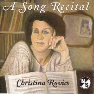 Vocal Recital: Rovics, Christina - COPLAND, A. / FALLA, M. de / FAURE, G. / STRAUSS, R.