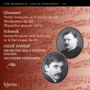The Romantic Violin Concerto 14 - Glazunov & Schoeck Product Image