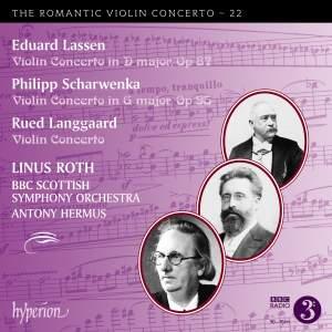 Lassen, Scharwenka & Langgaard: Violin Concertos