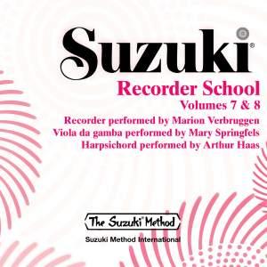 Suzuki Recorder School, Vols. 7 & 8