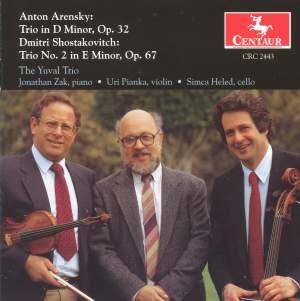 Arensky & Shostakovich: Piano Trios
