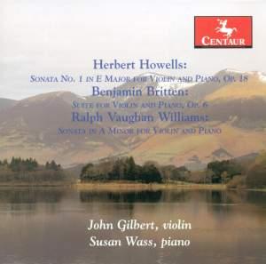 Howells, Britten & Vaughan Williams: Music for Violin