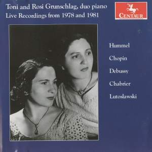 Toni and Rosi Grunschlag: Live Recordings from 1978 and 1981