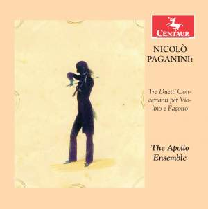 Paganini: Three Duets for violin and bassoon MS130 Product Image