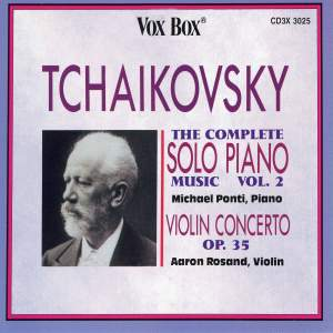 Tchaikovsky: Complete Solo Piano Music, Vol. 2