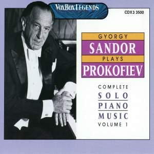 Sandor Plays Prokofiev Vol. 1