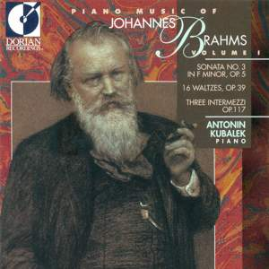 Piano Music of Johannes Brahms, Vol. 1 Product Image
