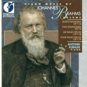 Piano Music of Johannes Brahms, Vol. 2 Product Image
