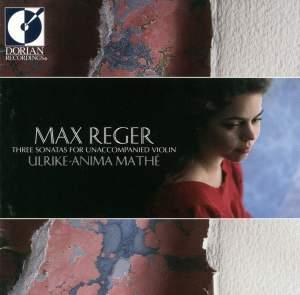 Max Reger: Three Sonatas for Unaccompanied Violin Product Image