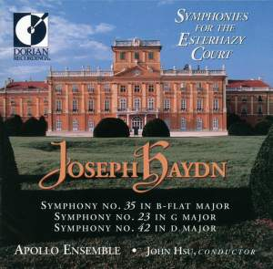 Haydn: Symphonies Nos. 23, 35, 42 Product Image