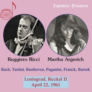 Martha Argerich & Ruggiero Ricci - 2nd Leningrad Recital 1961 Product Image