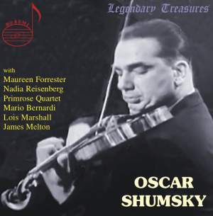 Oscar Shumsky: Broadcasts & Live Performances 1940-1982