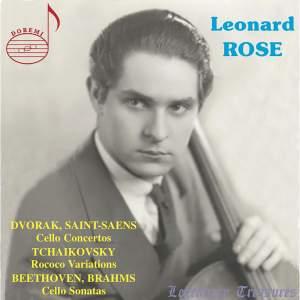 Leonard Rose plays Dvorak, Tchaikovsky, Beethoven & Saint-Saëns