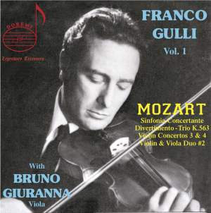 Mozart: Franco Gulli, Vol. 1 Product Image