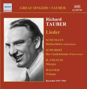 Richard Tauber sings Lieder (1919-1926) Product Image