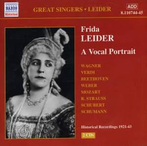 Great Singers - Frida Leider Product Image