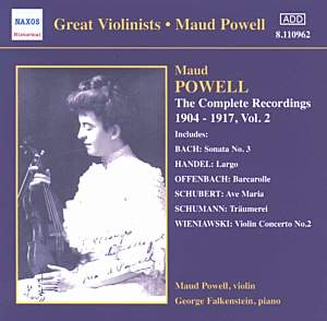 Great Violinists - Maud Powell - Complete Recordings, Vol. 2 (1904-1917) Product Image