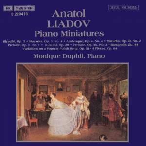 Liadov: Piano Miniatures Product Image