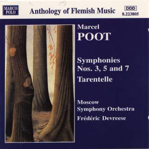 Marcel Poot: Symphonies Nos, 3, 5 & 7 Product Image