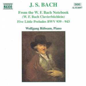 J S Bach: From the W.F. Bach Notebook Product Image