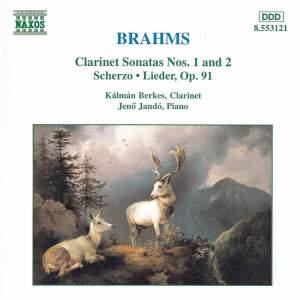 Brahms: Clarinet Sonata Nos. 1 & 2, Scherzo, & Lieder Op. 91 Product Image