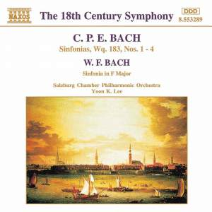 CPE Bach: Sinfonias Wq. 183, Nos. 1-4 Product Image