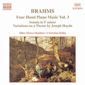 Brahms: Four Hand Piano Music, Volume 3 Product Image