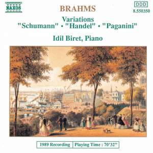 Brahms: Variations for Piano Product Image