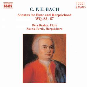 CPE Bach: Sonatas for Flute & Harpsichord Wq. 83-87 Product Image
