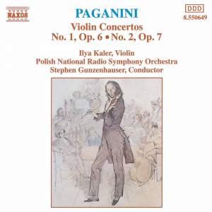 Paganini - Violin Concertos Nos. 1 & 2 Product Image