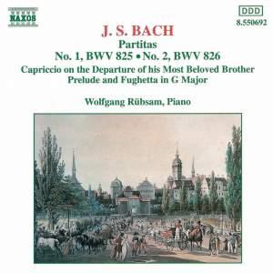 JS Bach: Partitas Nos. 1 & 2, Capriccio, Prelude and Fughetta Product Image