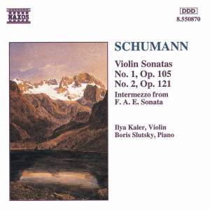 Schumann: Violin Sonatas Nos. 1 & 2 and Intermezzo from Sonata F.A.E. Product Image