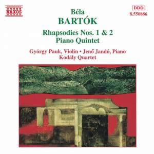 Bartók: Rhapsodies Nos. 1 & 2, Piano Quintet Product Image