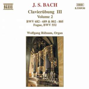 J S Bach: Clavierübung III, Volume 2 Product Image