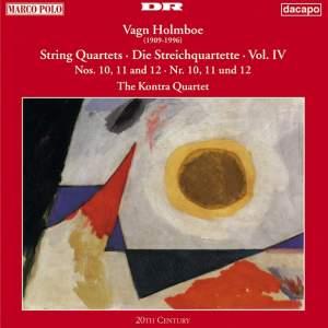 Holmboe: String Quartets Nos. 10, 11 & 12 Product Image